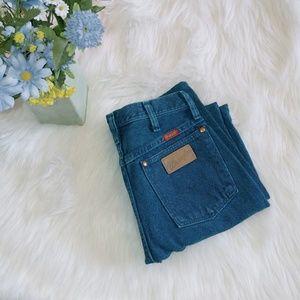 Vintage Wrangler high waist turquoise jeans